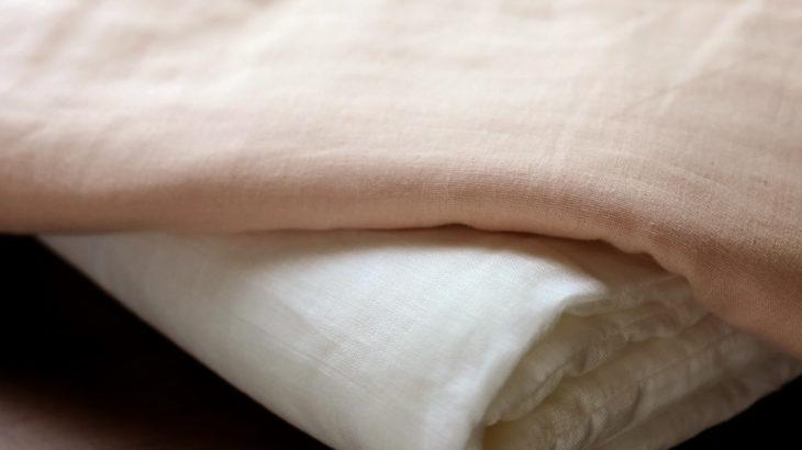 長く使える真綿のひざ掛け