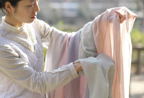 竹ガーゼの和布、首元や肩に・・・